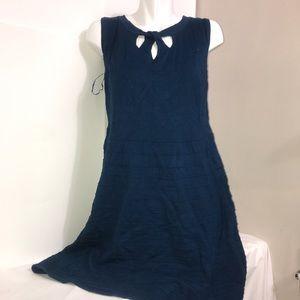 Cleo Deep Turquoise A Line Sleeveless Rayon Dress